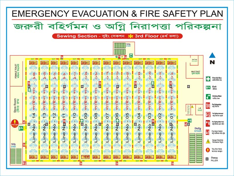 Fire Safety Evacuiation Floor Plan