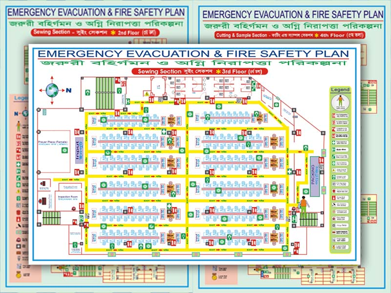 Fire Safety Evacuation Floor Plan