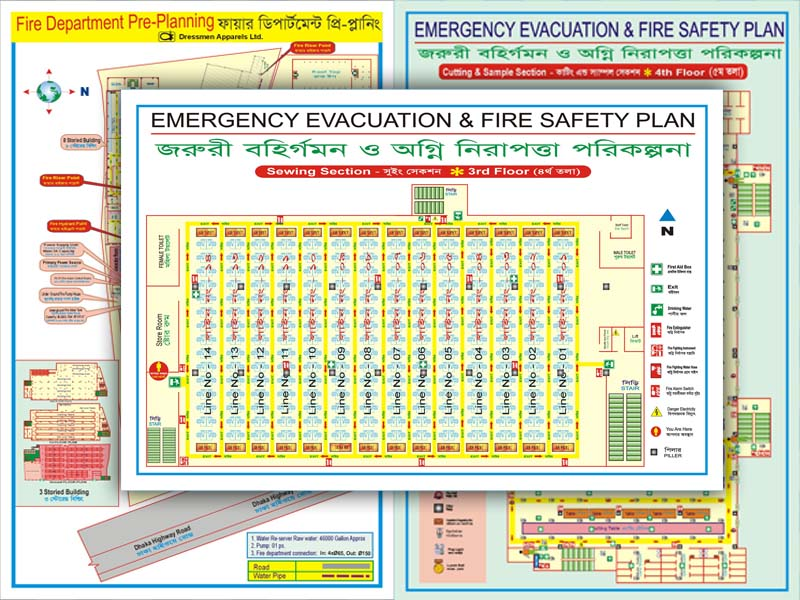 Fire Safety Evacuation Floor Layout Plan